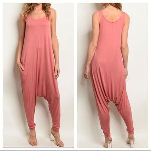 Pants - Parachute style jumpsuit with pockets